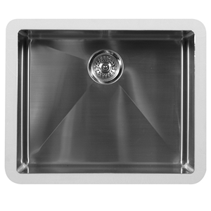 "Karran E-528, 23-1/2"" x 19-1/2"" Stainless Steel Undermount Single Bowl, Stainless Steel"