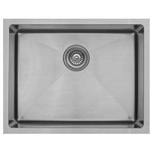 "Karran EL-73, 23"" x 18"" 16 Gauge Undermount Single Bowl Kitchen Sink, Stainless Steel"