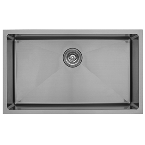 "Karran EL-75, 30"" x 18"" 16 Gauge Undermount Single Bowl Kitchen Sink, Stainless Steel"