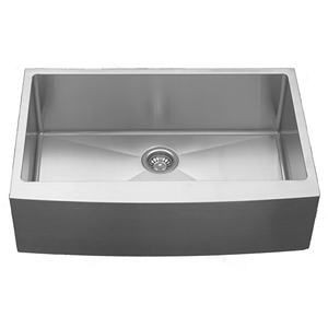 "Karran EL-84, 33"" x 22-1/4"" 16 Gauge Undermount Kitchen Sink with Apron Single Bowl, Stainless Steel"