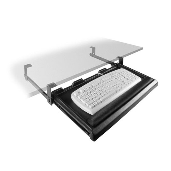 Fulterer FR1600BL, Pull-Out Keyboard Tray (No Mouse Tray), 24.57 x 14.96 x 3.78, Black