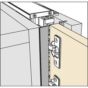 Salice Pocket Door Front Cover Kit, Grey, YE55KIT0201