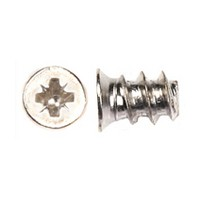 WE Preferred 1MFPE05075R2N (59920) Euro Screw, Flat Head PoziDrive, Blunt Pt, Coarse, 7.5mm long, Nickel, Box 1,000 pcs