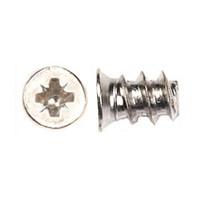 WE Preferred 1MFPE05100R2N (60000) Euro Screw, Flat Head PoziDrive, Blunt Pt, Coarse, 10mm long, Nickel, Bulk-1000