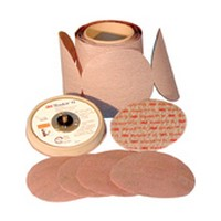 3M 51111615263 Abrasive Discs, Microning Film with Fre-Cut, 5in, No Hole, PSA, 120 Micron