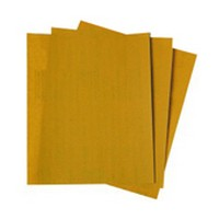 3M 51131025424 Abrasive Sheets, Aluminum Oxide on A-Weight Paper, 9 x 11in, 280 Grit
