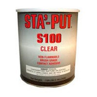 ITW Polymers S100-01C, 1 Gallon S100 Bulk Contact Adhesive, Non-flammable Brush & Roller Grade, Economy 12 Solids, Clear