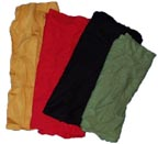 25 lb Wiping Rags Reclaimed, Colored Knit, Star Wipers RCKMC-25