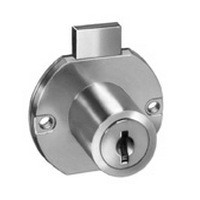 CompX C8703-MKKD-14A, Deadbolt Locks for Drawers, Surface Mounted, Cyl 15/16 L, Bolt Travel 11/32, Keyed Different & Master Keyed, Bright Nickel