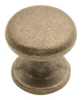 "Hickory Hardware PA1215-WOA, Windover Antique 1"" Knob, Zinc Die Cast"