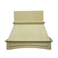 VMI FDWHAP42-M, 44-1/2 Premium Arched Raised Panel Wood Range Hood, Air Pro, Maple, 44-1/2 W x 19-1/2 D x 40-1/2 H
