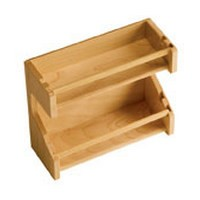 "Cabinet Door Wood 2-Tier Spice Rack 11-3/4"" W Maple Omega National S9410MNL2"