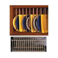 Hoffco BVI220, 34-3/8 L Plate Display Rack, Hoffco Series, Red Oak, 34-3/8 L x 12-3/8 H, 2 Racks per Pack