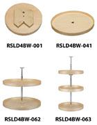 "Rev-A-Shelf LD-4BW-001-32-20 Bulk-20, Lazy Daisy Series, 32"" Wood Full Circle Lazy Susan Shelves"