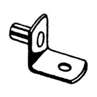WE Preferred BA10707PB 5mm Bore, Metal Shelf Support, L-Shaped, Brass, 100-Pack