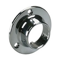 "Closed Wall Mount Flange for 750 5 and 770 5 Series Closet Rod 1-5/16"" Dia Chrome Knape and Vogt 764 CHR"