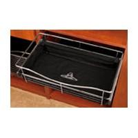 Rev-A-Shelf CBL-241407-B-3, Closet Basket Cloth Liner, 24 W x 14 D x 7 H, Black
