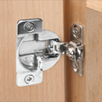 """Grass 02282-15, 108 Degree TEC 863 Face Frame Self-Close Hinge, Overlay 1-7/16"""" & Greater, Dowels"""