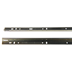 "16"" Unhanded Mounting Rail  Full Extension Ebony Black, Knape and Vogt 8500-92 EB 16"