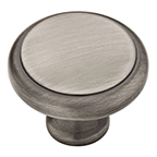 "1-1/8"" Heirloom Silver Knob, Athens, Liberty PN0409-904-CP"