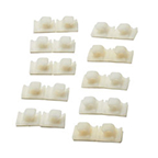 Tresco Wire Management Adhesive Clips (Bag/10), L-WCLP-WH-1