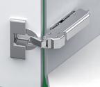 Grass F034139395223 110 Degree Tiomos Self-close Hinge, +45 Degree Angle Corner, Overlay, Toolless