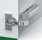 Grass F028138544223 110 Degree Tiomos Soft-close Hinge, +45 Degree Angle Corner, Inset, Dowel