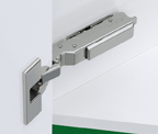 Grass F028138557223 120 Degree Tiomos Soft-close Hinge, -45 Degree Diagonal Corner, Screw-on