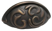 "Schaub and Co 834-ABZ, Ancient Bronze 3-3/4"" Pull, Solid Brass, Centers 3"""