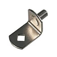 KV 345 NP, 5mm Bore, Shelf Support, L-Shaped, Nickel, Knape and Vogt