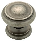 "Liberty Hardware P61822-PI-C, Tumbled Pewter 1-1/4"" Knob, Solid Brass"