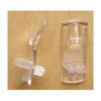 Tenn-Tex T-600-00 Bulk-4000, 1/4 Bore, Plastic Shelf Supports with Locking Clip for 1/2 Shelves, Clear