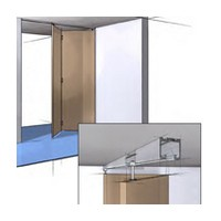 Hettich 1135231, Bi-Fold Door Hardware & 48 L Track Set, Grant E-Series for (4) Doors 3/4-1-3/4 Thick, 25lb Capacity, 5-Pack