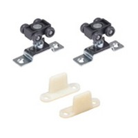 Hettich 1135333 Bulk-10 Sets, Sliding Door Hardware Kit, Grant 75E Series, 75lb Capacity for 3/4 Thick Doors, 1 Door Hardware Kit without Track