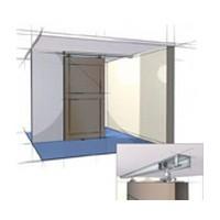 Hettich 1135352 Bulk-5 Sets, 96in Sliding Door Track Set, Grant 150E for 1in Thick Doors, 150lb Capacity