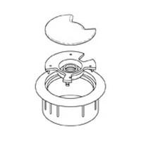 Custom Plastics CPF-2503, Round Plastic 3-Piece Grommet, 1-7/8 dia., Gray