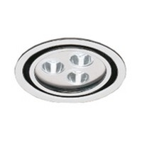 Hera 3W EH24-LED Series LED Puck Light, Cool White, White, EH24LED5500WH