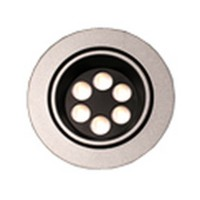 Hera 6W Swivel LED LED Puck Light, Warm White, Stainless Steel, BIG6/2/SS/WW