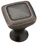 "Liberty Hardware P27602-STB-C, Statuary Bronze 1-1/8"" Knob, Zinc Die Cast"
