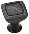 "Liberty Hardware P27602-WI-C, Wrought Iron 1-1/8"" Knob, Zinc Die Cast"