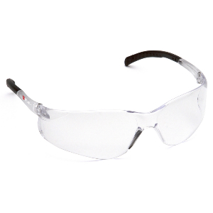Fission Clear Lens Scratch-Resistant Safety Glasses, Lightweight