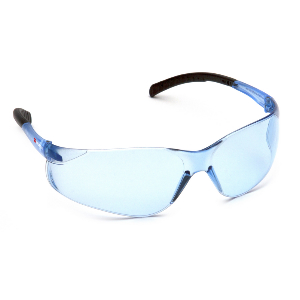Fission Blue Lens Anti-Fatigue Scratch-Resistant Safety Glasses, Lightweight