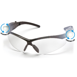 Clear Lens Anti-Fog LED Scratch-Resistant Safety Glasses, WE Preferred Bolt LED 0899103217773 1