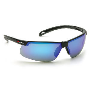 Element Clear and Tinted Ice-Blue Mirror Lens Scratch-Resistant Safety Glasses, Ultra Light Sport