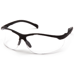 Kinetic Clear Lens Anti-Fog Scratch-Resistant Safety Glasses,  Adjustable Temples