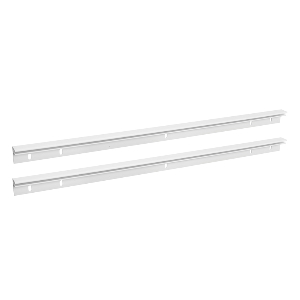 Clear Plastic Bread Drawer Rails with Mounting Screws Rev-A-Shelf CDR-21C-A