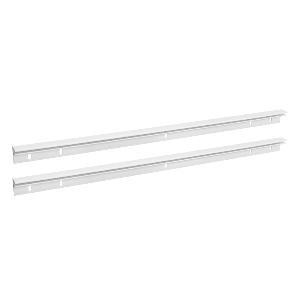 White Plastic Bread Drawer Rails with Mounting Screws Rev-A-Shelf CDR-21W-A