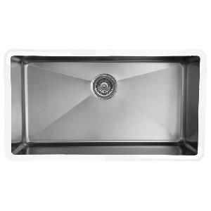 "32"" Seamless Undermount Large Single Bowl Stainless Steel Kitchen Sink Karran E-440"