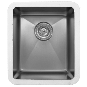 "Karran E-415, Edge 16-1/4"" x 18-1/4"" Undermount Kitchen Sink, Single Bowl, ADA"