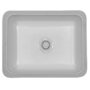 """Karran MADW, Madrid 22-3/4"""" x 18-1/8"""" Acrylic Kitchen Sinks, Undermount Single Bowl, White"""